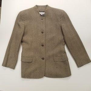 Vintage Giorgio Armani Tweed Jacket Blazer 6/40